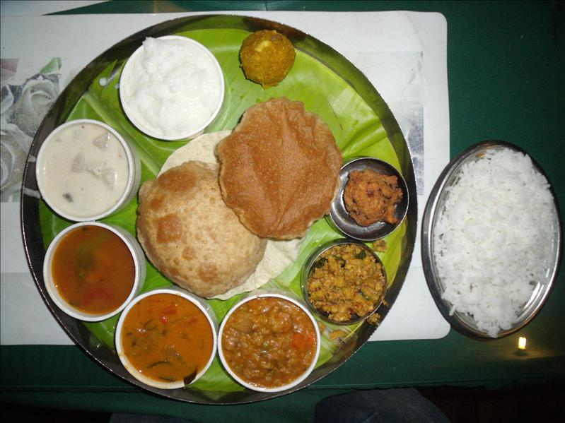 A Woody's Thali.