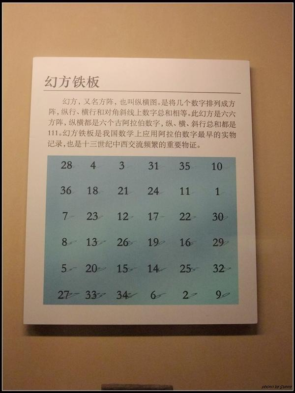 幻方鐵板,直的橫的斜的相加都等於111