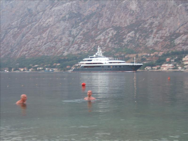 Evening Swim from Beach Opposite to Hotel Bokeljski Dvori, Prcanj