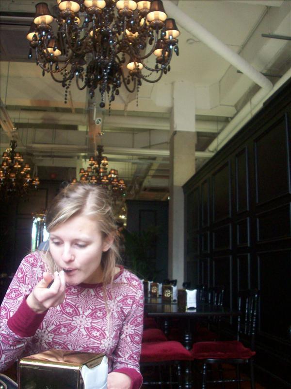 Jess sneaking the tikka tikka masala ;)