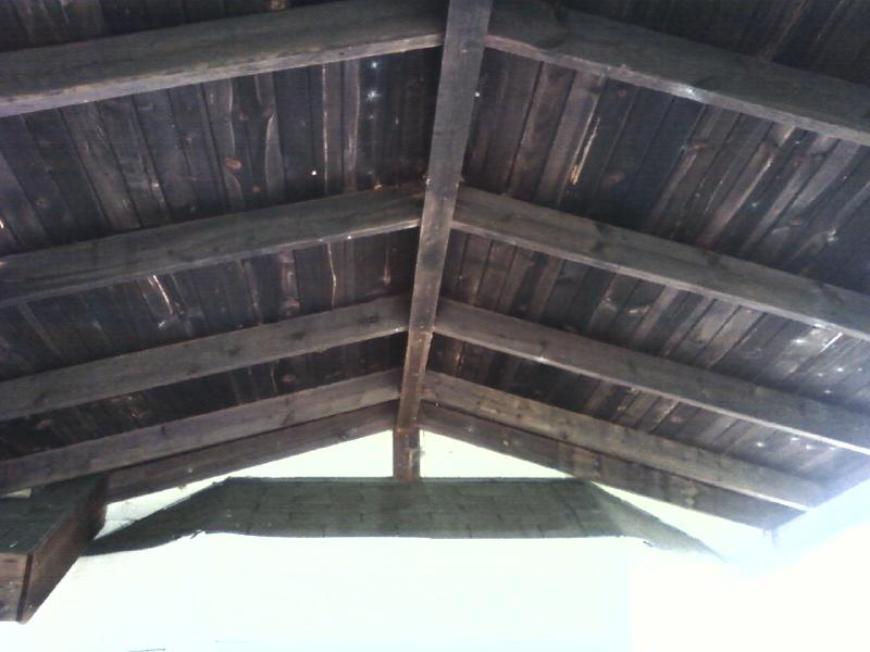 part of the roof over this cedar deck