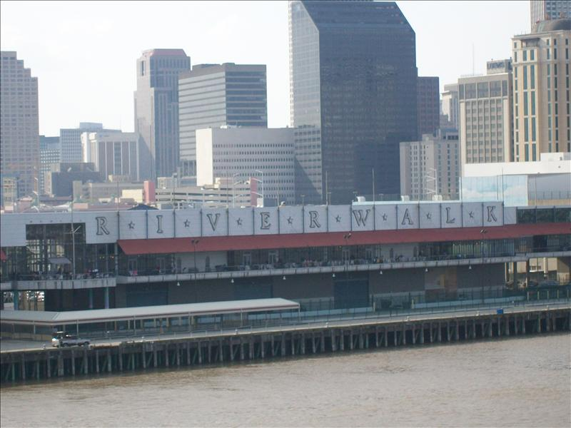 leaving New Orleans for Mexico on a cruise liner