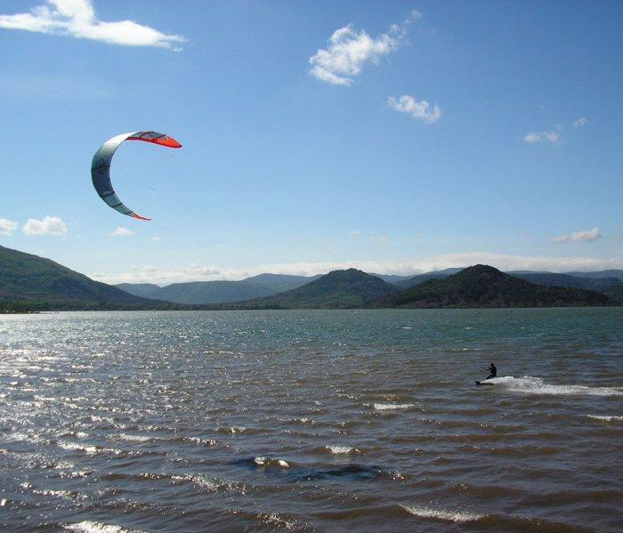 Good wind for kite surfing.