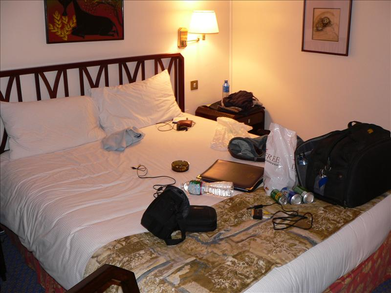 Messy room, Hilton, Nairobi