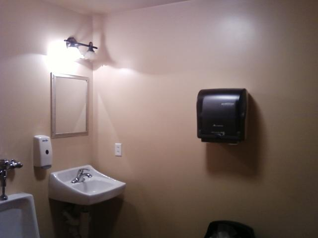 plain but clean restroom