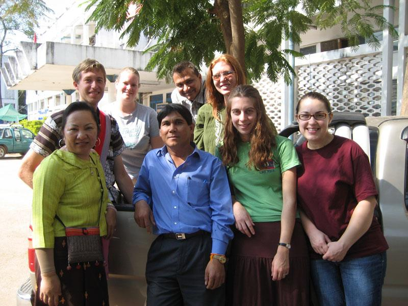 The group and Seesouphan, government worker with the LYU.