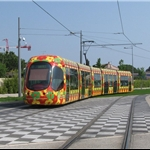 2nd stop near Montpellier with its colourful trams....