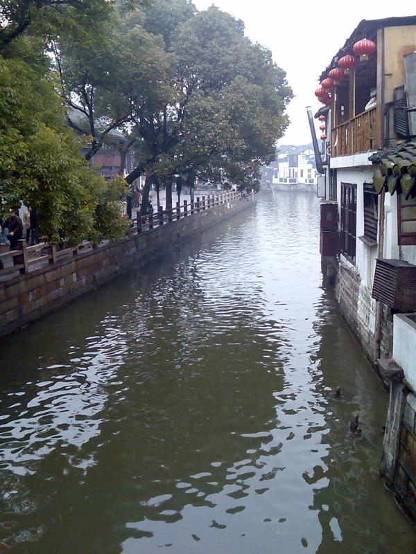 朱家角的水看上去比周庄更有活力