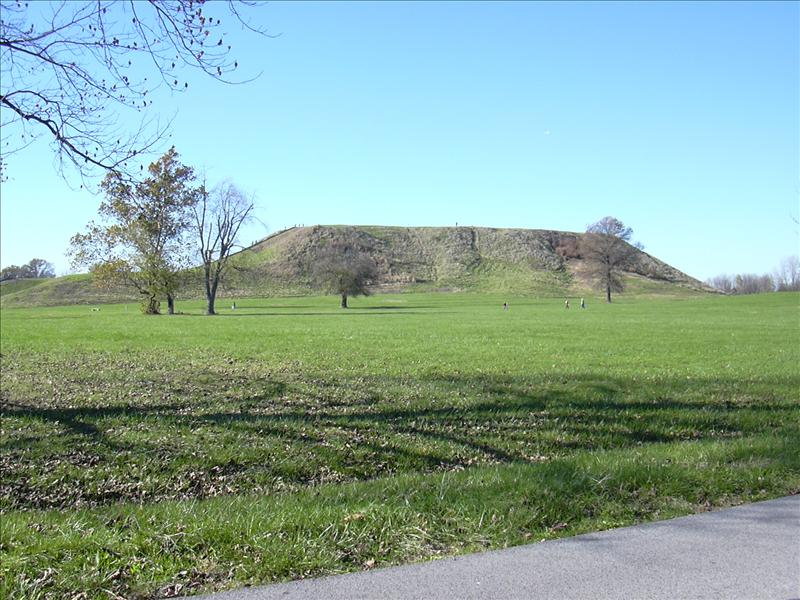 The primary North American indian mound.  St. Louis was for years known as the Mound City