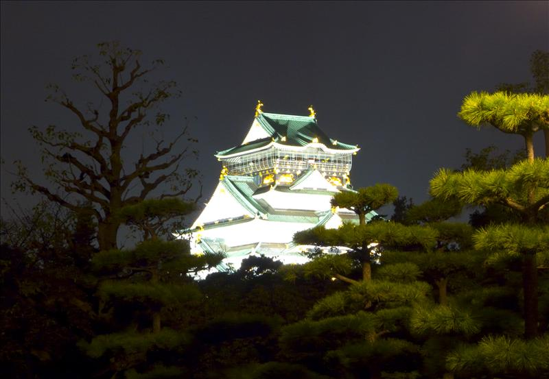 Osaka Castle in the Evening