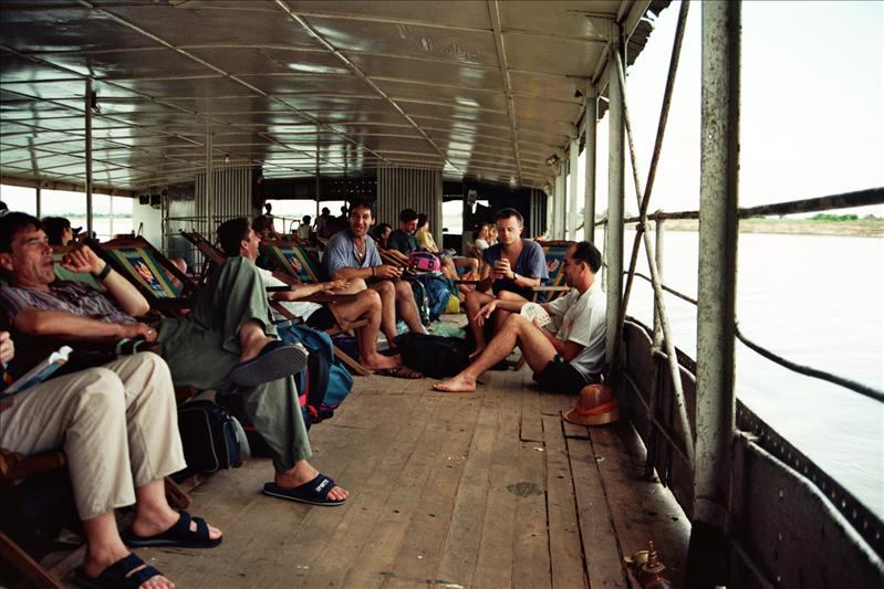 on the boat from mandalay to bagan