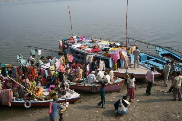 PUTTING THE BOAT OUT, VARANASI