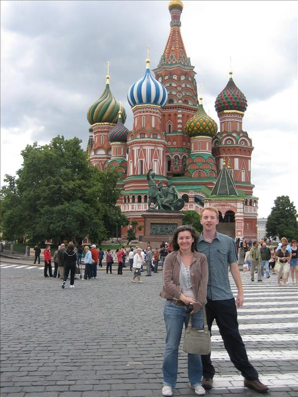 Cathy and I on Red Square