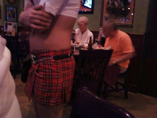 our server was cute cute hot with kilt