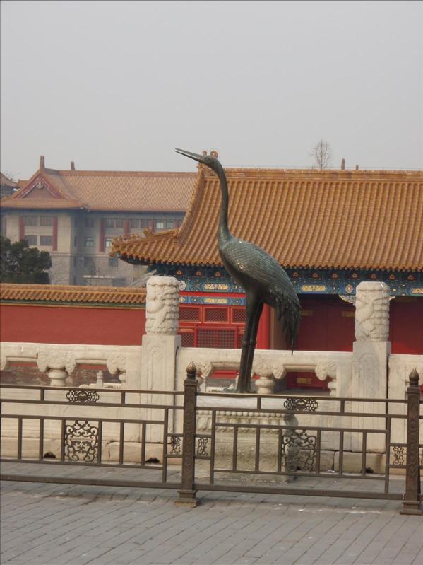 crane incense burner, forbidden palace