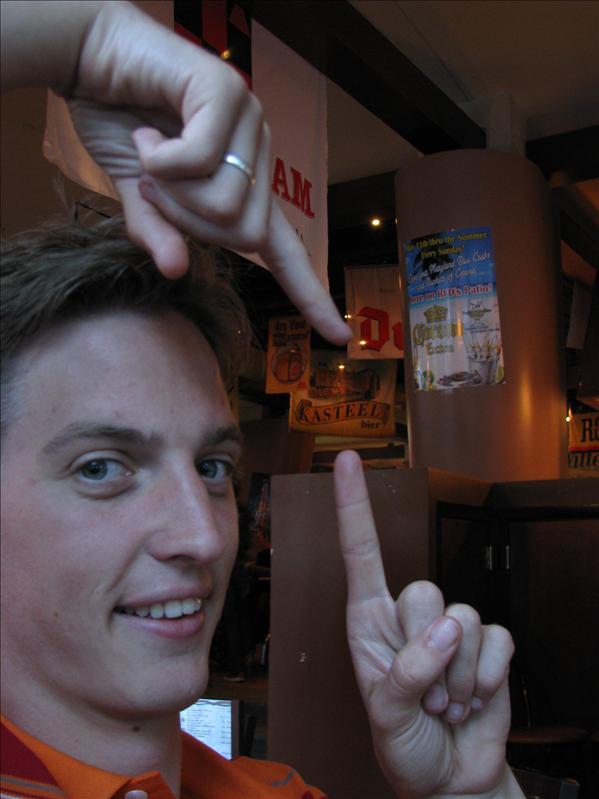 's avonds eerst lekker chillen in restaurantje met nederlands(talig) bier