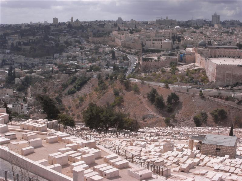 jewish cementery in the foreground