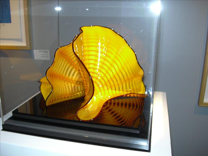 glass sculpture on display