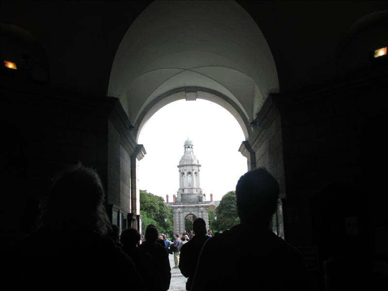 Walking around Trinity College (full name: University of Dublin Trinity College)