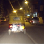 Rickshaw, blurred. Must have been on the way home from the pub.