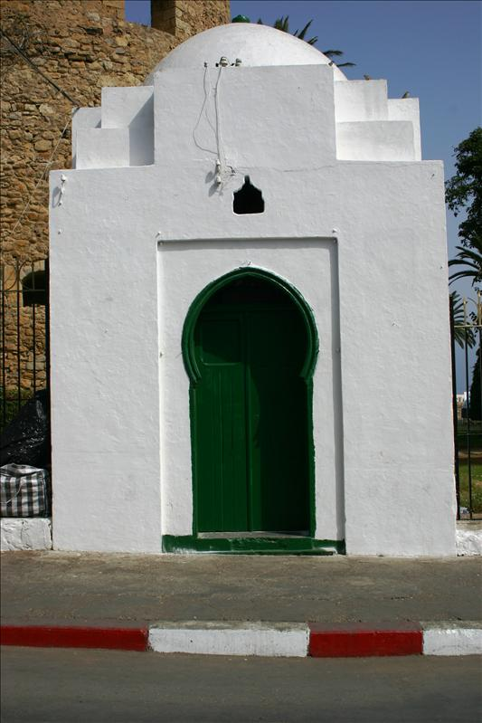 cool green door on white building...in Asilah.