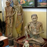 WAT JONG KLANG - JATAKA FIGURES, MAE HONG SON - JUST WASTING AWAY