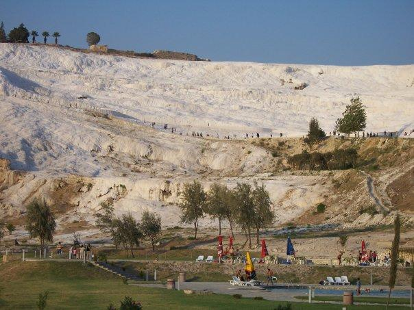 THE FROZEN WATERFALL OF PAMUKKALE