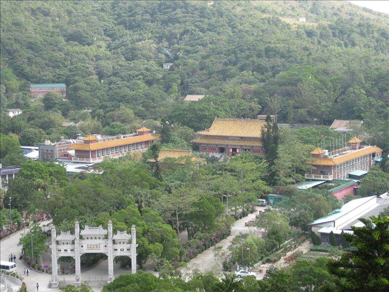 Ngong Ping Plateau - old Chinese villages with monestary