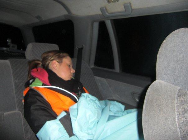 Amy asleep