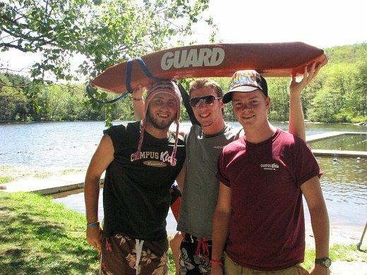 Me, Max and Lee Lifeguarding