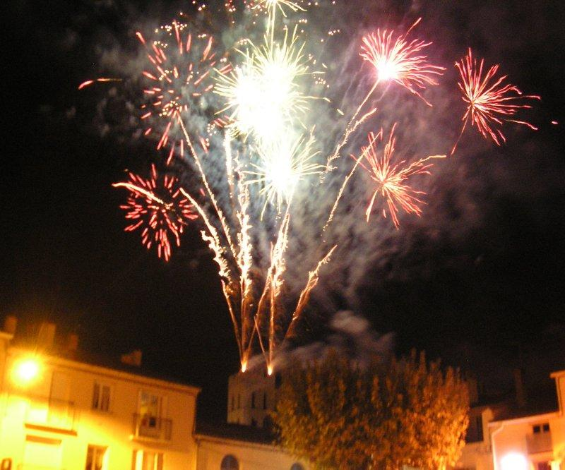 .. followed by fireworks from the church tower.