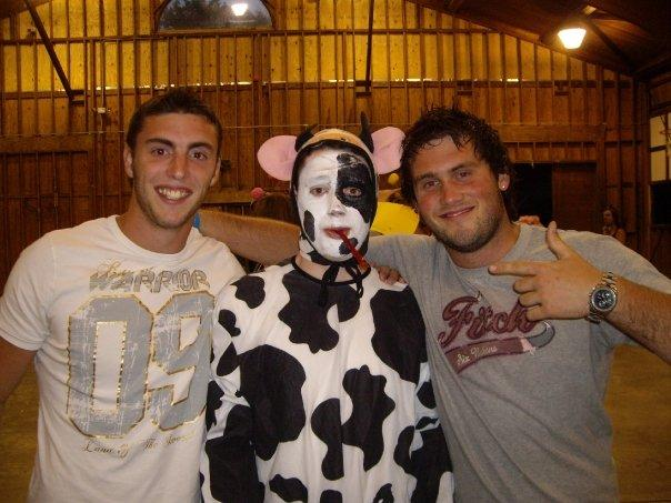 Max, Steve-o dressed as a cow and Me