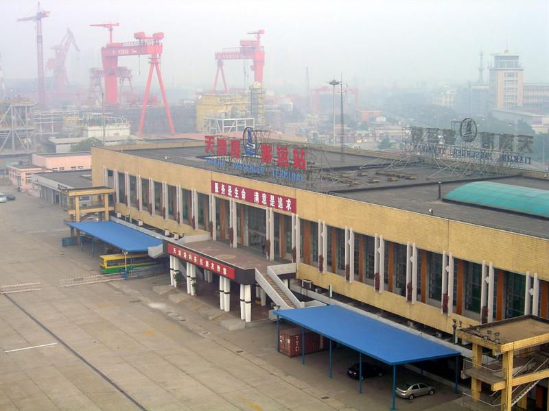 XINGANG (海 港 ) is TIANJIN (天 津 市 ) province's main port. The weather was very foggy at the time.