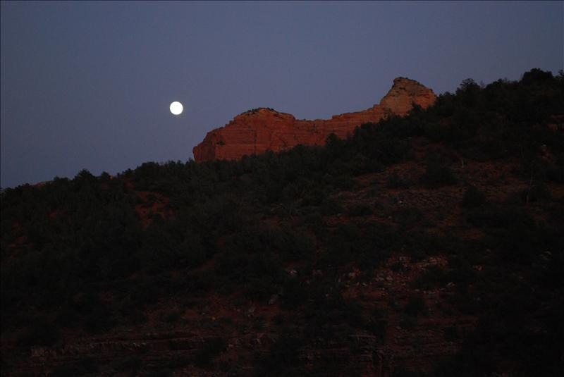 Moonrise in Sedona