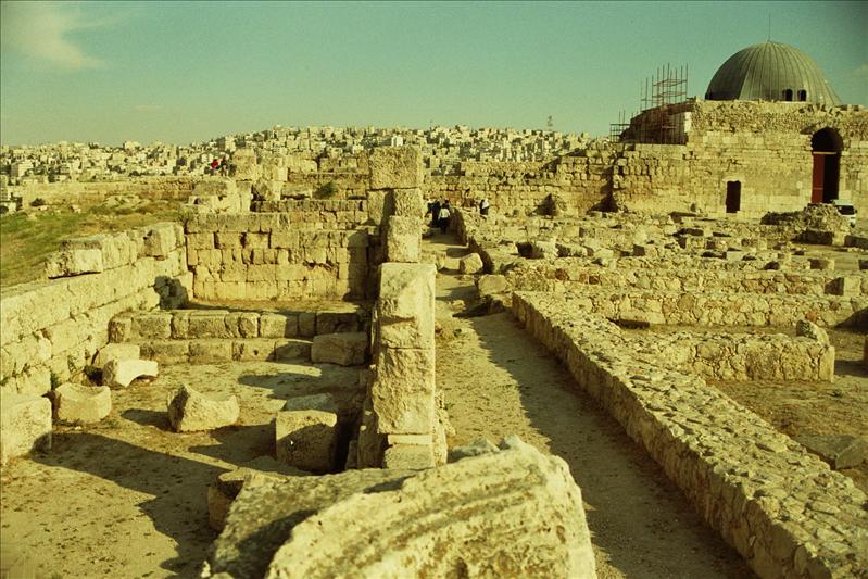 The Citadel hill of Amman, known as Jabal el Qala