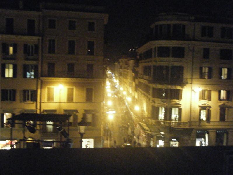 a view from the top of the spanish steps