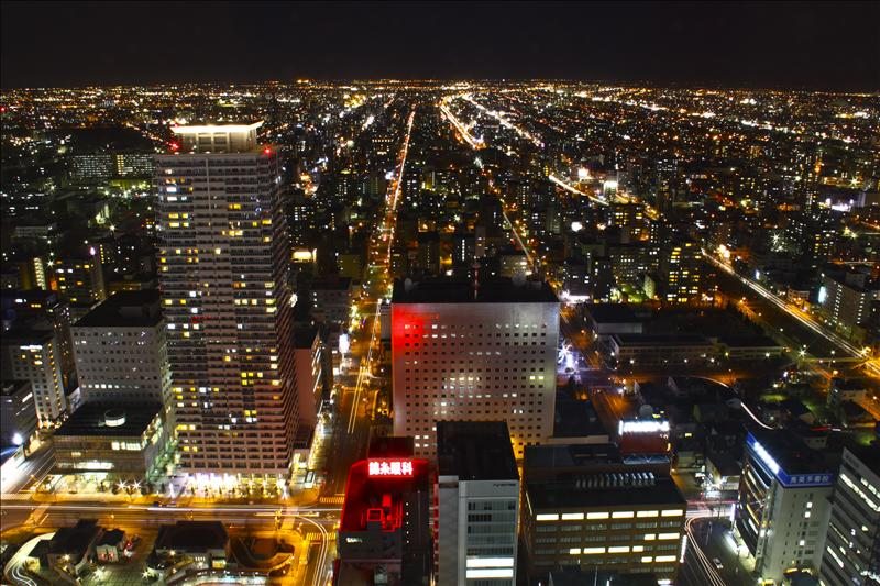 Sapporo viewed from JR Tower