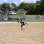the pitcher pitches the baseball