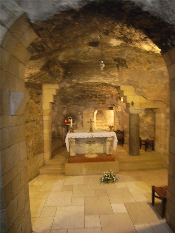 apse of a 5th century byzantine church, around thr grotto of the annunciation.the traditional site of mary's home,where the angel gabriel appeared to her and announced that she was pregnant with the son of god ( luke 1:26-38 )