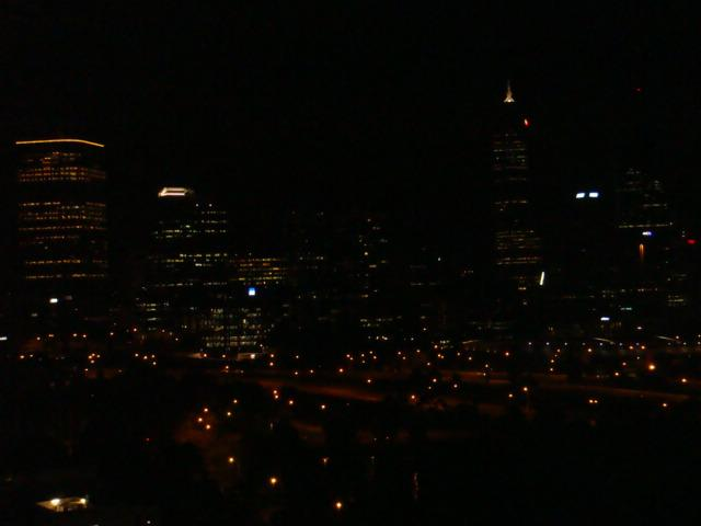 Night view from Kings Parks