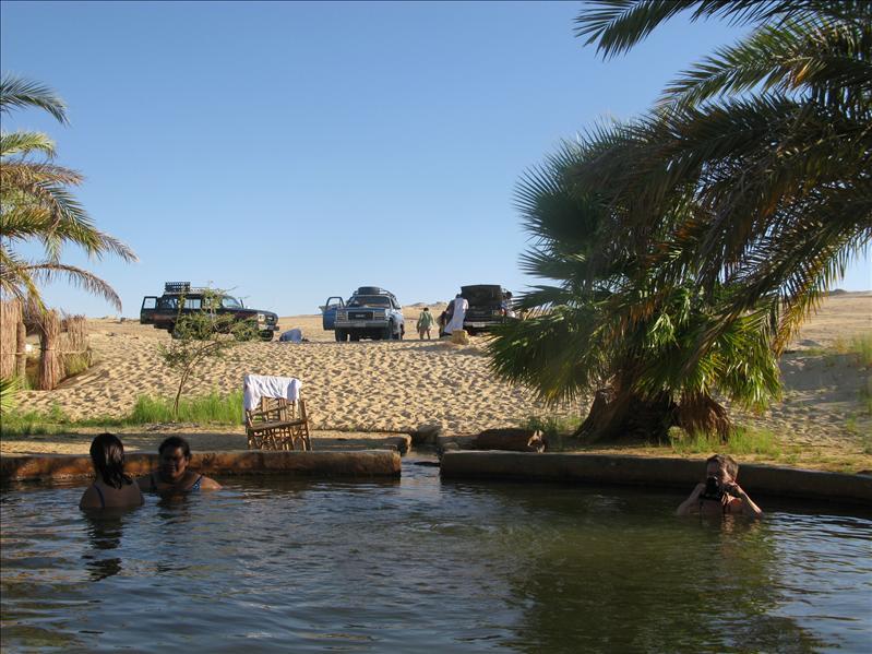 warmwaterbron in Siwa woestijn
