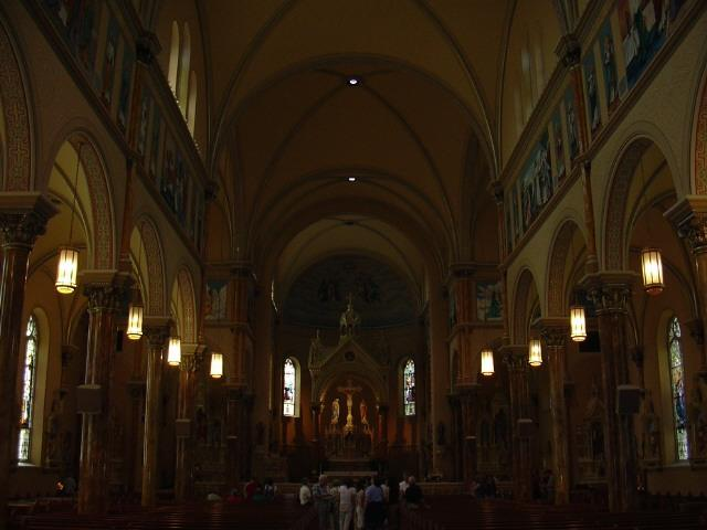 a view towards the alter or front of church
