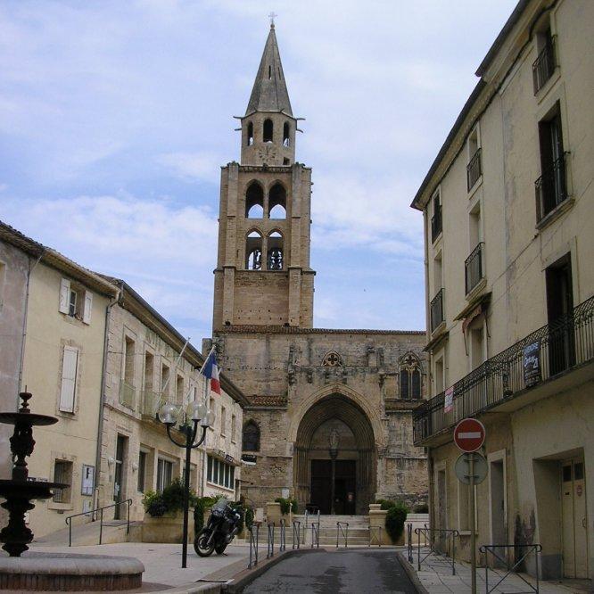 Medieval church at Montagnac.