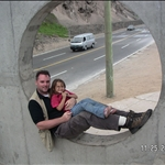 Me and a daughter hang out near the cliffs in Lima