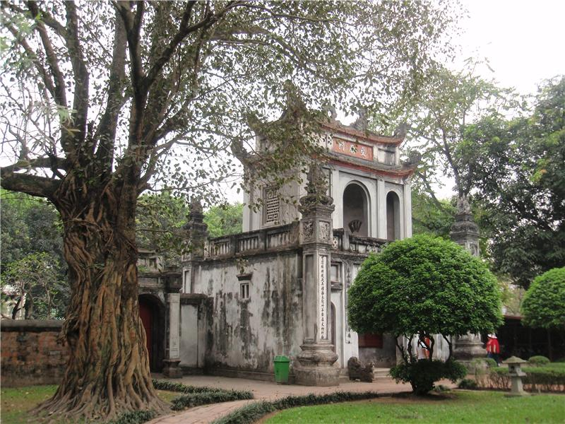 In the grounds of the Temple of Literature