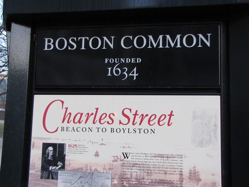 Boston Common - one of the oldest city parks in the United States (1634)