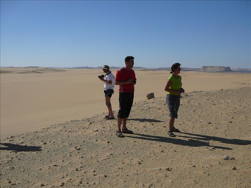 Siwa - Woestijn Martin, Rob en Nikki