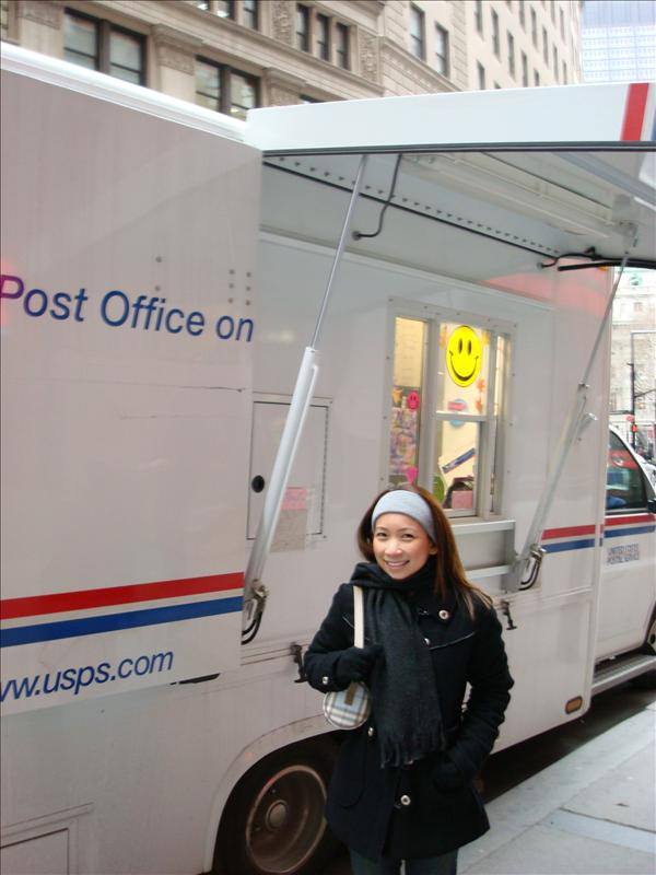 A post office on wheels.  For reals!