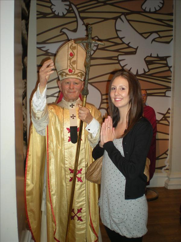 The Pope, Madame Tussaude's Wax Museum - 20th May