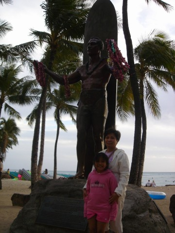 Duke statue on Waikiki beach
